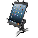 """RAM Universal X-Grip Cradle for 10"""" Tablets with U-Bolt Rail Mount Kit by PilotMall.com"""