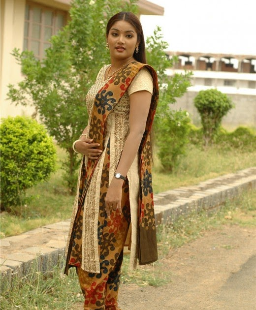 Tamil Actress Lakshana With Sexy Churidaar