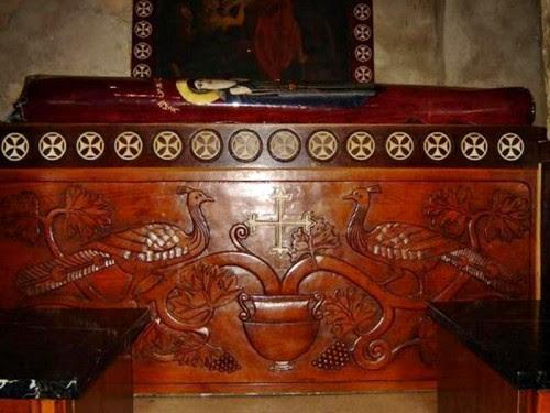 Reliquias del Santo en su monasterio.