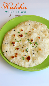 Kulcha recipe, Plain kulcha without yeast, Plain kulcha ...