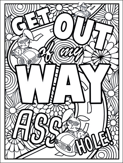 Free Swear Word Coloring Pages for Adults Only - Printable!