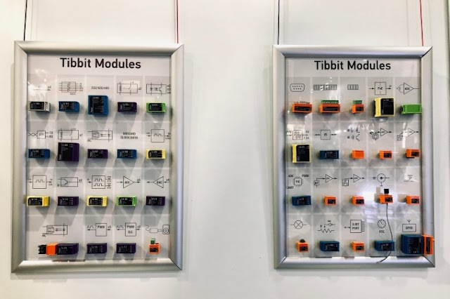 Tibbits are colorful pre-programmed modules for building IoT devices