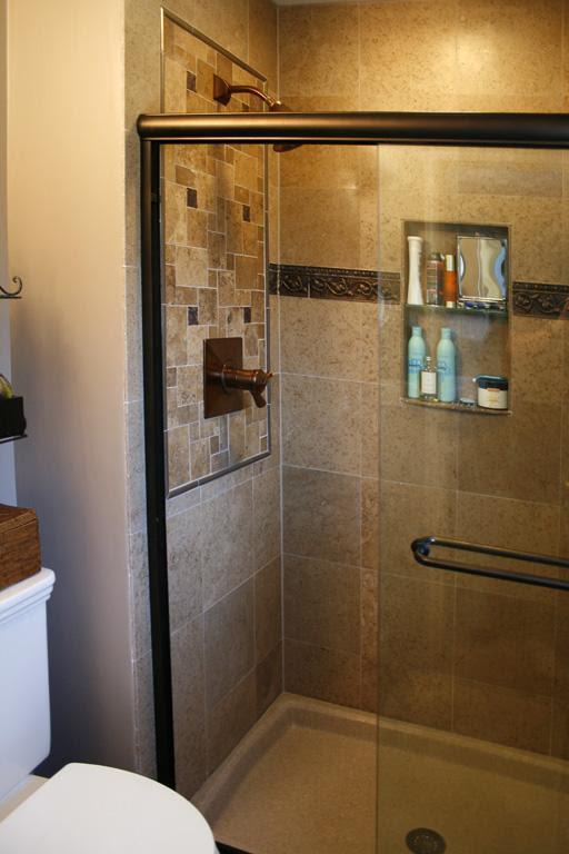 shower12L Travertine Tile Shower from Works of Art Tile