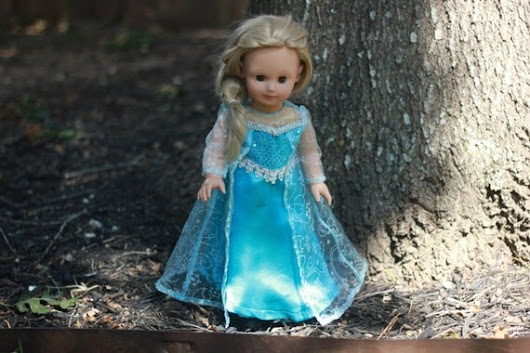 Snow Queen 18in Doll Dress by FashionsFromThePast on Etsy