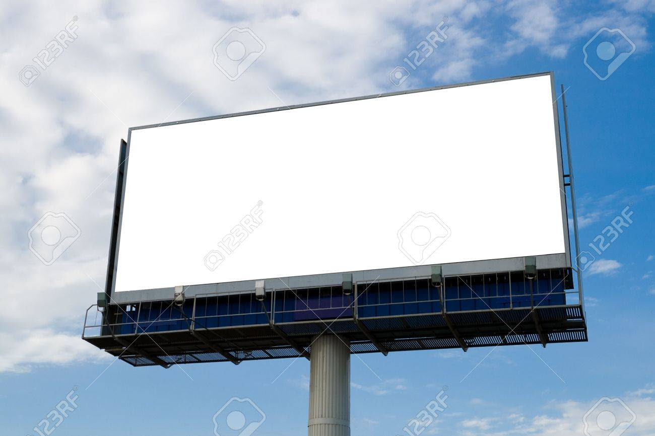 Outdoor Advertising Billboard With Blank Space For Text Stock ...