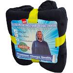 Cozy Soft Comfortable Sherpa Hoodie Sweatshirt - Oversized Blanket Sweatshirt Hoody - Hooded, Large Pocket, Reversible - - Premium Edition - Black