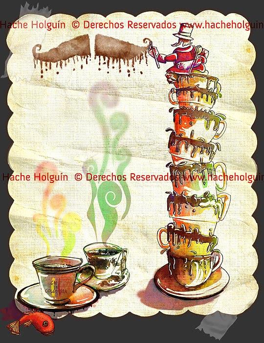 Ilustración: Lastres tazas  por Hache Holguín