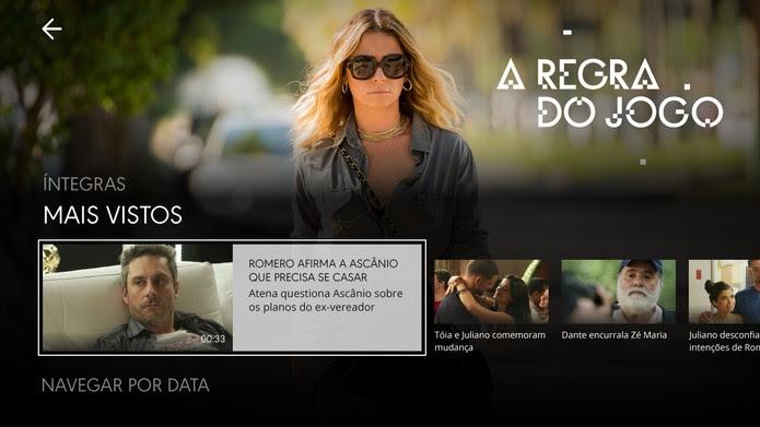 """Globo Play: """"A Regra do Jogo"""" tem episódios na íntegra e trechos de capítulos (Foto: Divulgação/Samsung)"""
