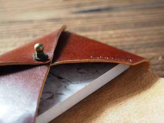 Leather Business Card Holder #Whiskey Brown | ES Corner