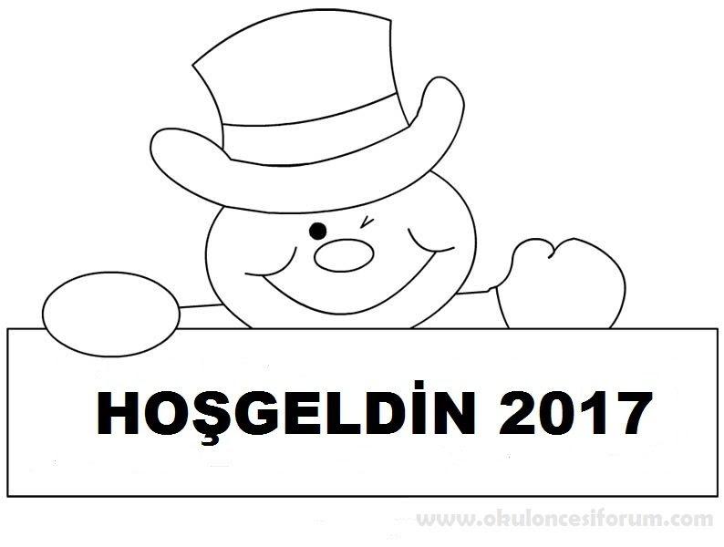 Hosgeldin 2018 Boyama Ust Ev Boyama Sayfasi