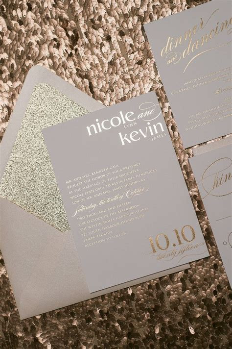 17 Best ideas about Gold Wedding Invitations on Pinterest