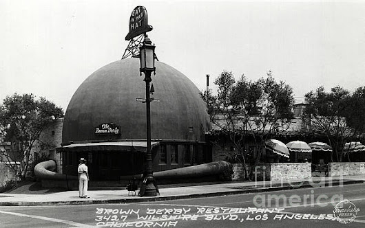 Brown Derby Restaurant by Sad Hill - Bizarre Los Angeles Archive