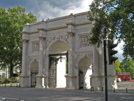 Marble Arch in London England's Hyde Park