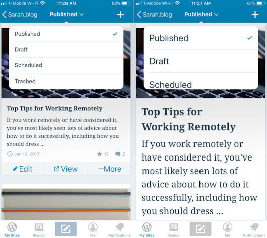 Managing Your Blog On a Mobile Device