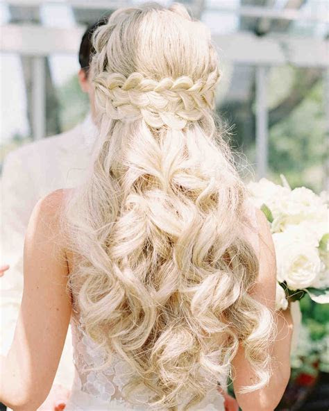 28 Half Up, Half Down Wedding Hairstyles We Love   Martha