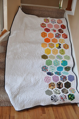 TNT Quilt ~ On the stairs