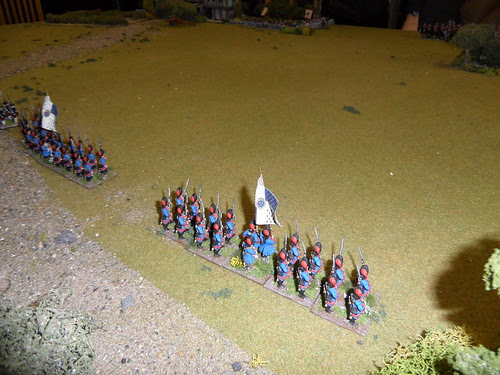 French Grenadiers on the left