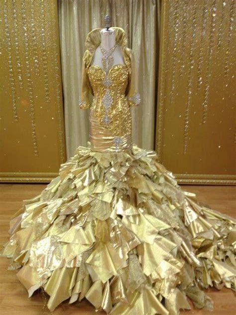 Actual Gold Wedding Dress From (My Big Fat American Gypsy