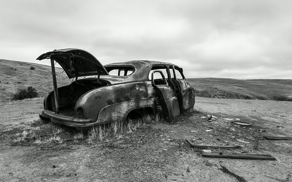 Abandoned car, Carrizo Plain National Monument