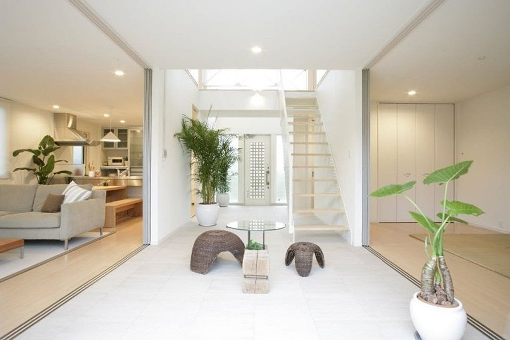 Interior design in a modern Japanese style