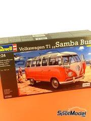 Maqueta de coche 1/24 Revell - Volkswagen T1 Samba bus  1962 image