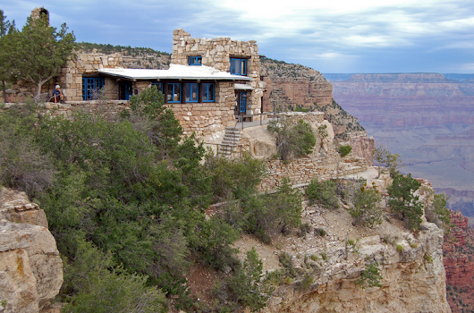 Lookout Studio at the Grand Canyon. Historic Places to Visit.