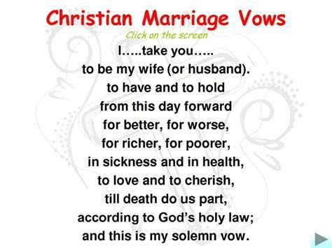 Christian Marriage Vows and Submission   Christian Dating