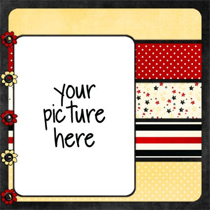 No Reimer Reason - Free Digital Scrapbook Quick Page - Click for larger preview