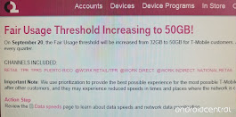 T-Mobile to increase unlimited throttling limit from 32GB to 50GB per month