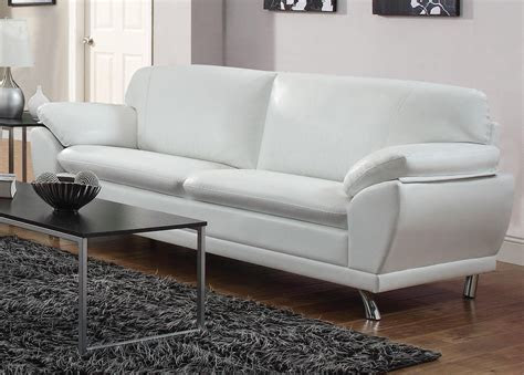 coaster robyn  white leather sofa steal  sofa