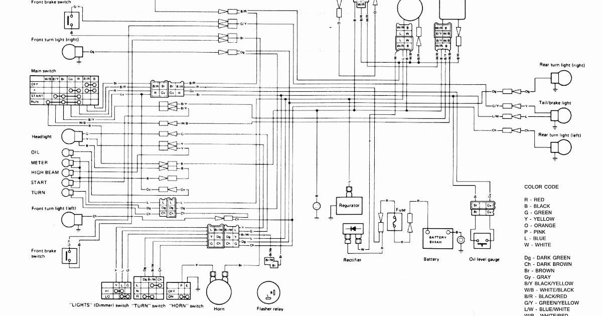 Wiring Diagram 4u2 1982 Yamaha Xt 550 Wiring Diagram Wiring Diagram And
