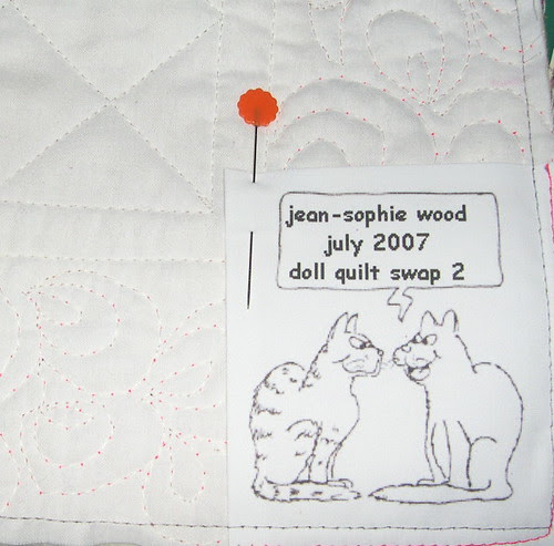 Sewing the Label
