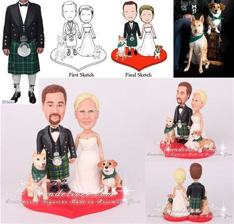 Irish Wedding Cake Toppers   Irish Cake Toppers