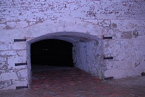 An archway in the Casemate leads to a walkway ...