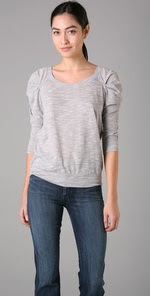 Free People Sheer Crepey Pullover