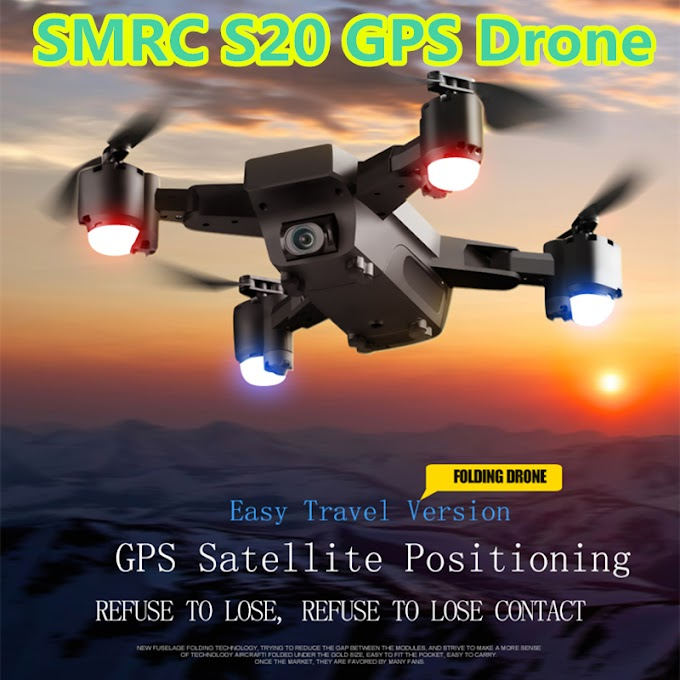 SMRC S20 RC Drone with Camera 1080P GPS Quadcopter WiFi FPV Drones GPS Follow Me Altitude Hold Foldable RC Dron VS CG033 F11 X9