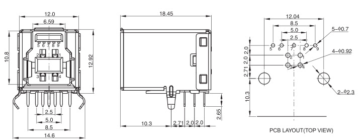 [44+] Micro Usb Type B Female Connector Pinout