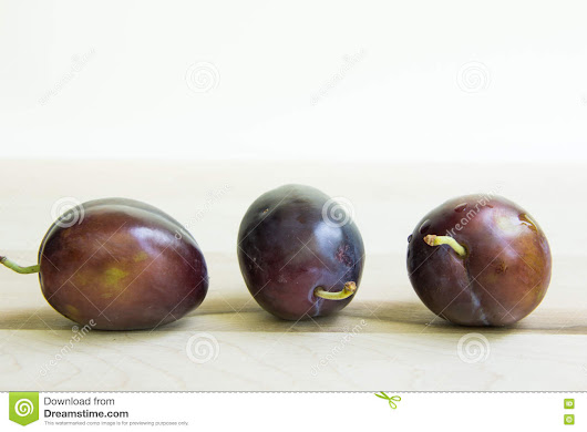 Trio of plums