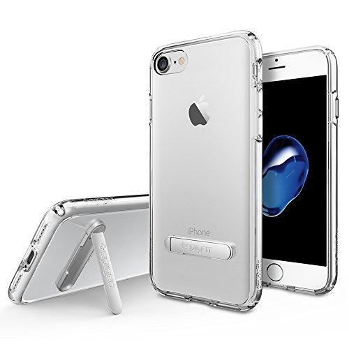 【Spigen】 iPhone 7 ケース, ウルトラ・ハイブリッド S [ 米軍MIL規格取得 背面キックスタンド付 ] アイフォン 7 用 カバー (iPhone7, クリスタル・クリア)