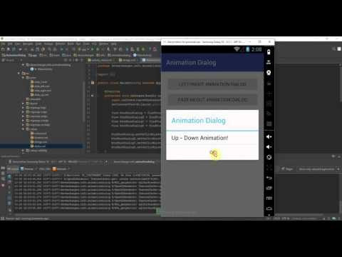 Showing Dialog with animation in Android