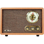 Victrola - Retro Wood Bluetooth AM/FM Radio - Walnut