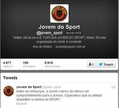 (via No embarque para Juazeiro, Torcida Jovem agride jogadores do Sport)