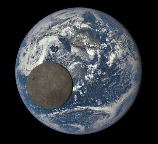 APOD: 2015 August 7 - Full Earth, Full Moon