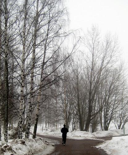 Jogging in Helsinki