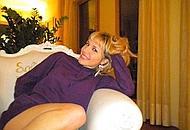 Silvia Valerio nel suo salotto