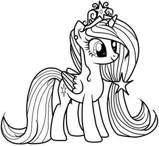 Ausmalbild Prinzessin Cadance