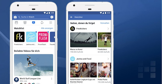 Facebook: globaler Rollout von Facebook Watch