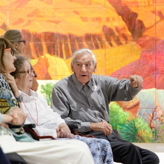 'It takes the sadness away': Dementia art therapy a success