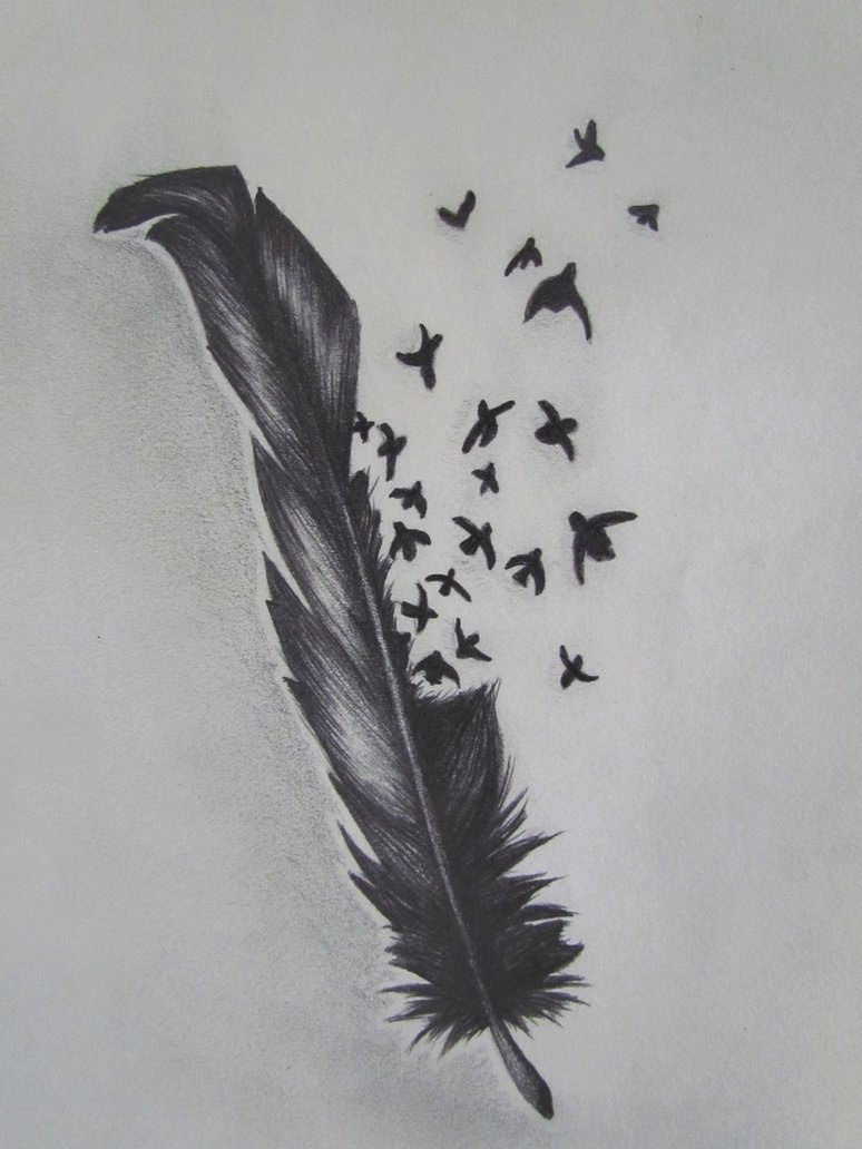 Tattoo Center Bird Crow Feather Tattoo Designs Tattoomagz