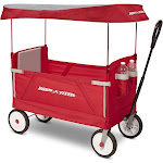 Radio Flyer 3-in-1 EZ Fold Wagon with Canopy Red